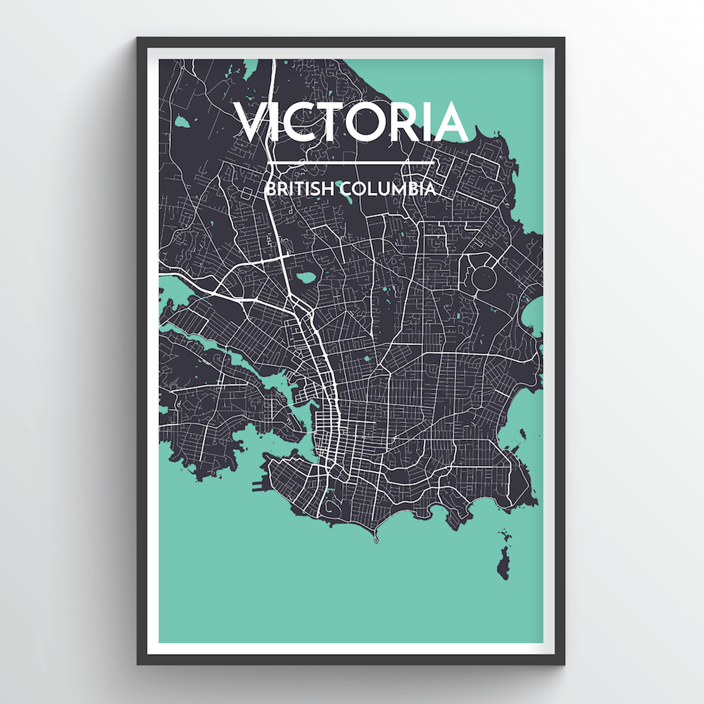 Victoria City Map Art Print - Point Two Design