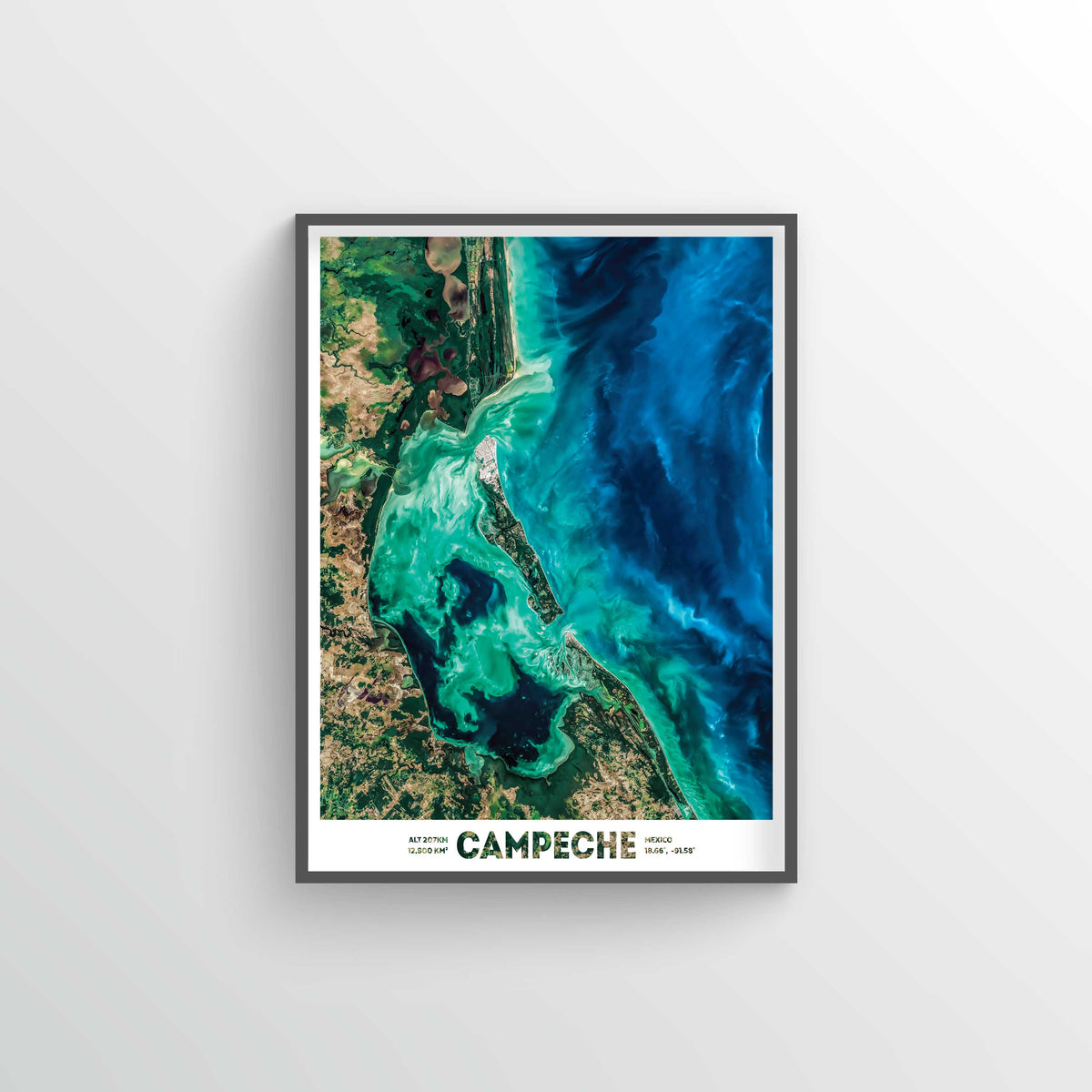 Campeche Mexico Earth Photography - Art Print - Point Two Design