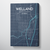 Welland City Map Canvas Wrap - Point Two Design - Black and White