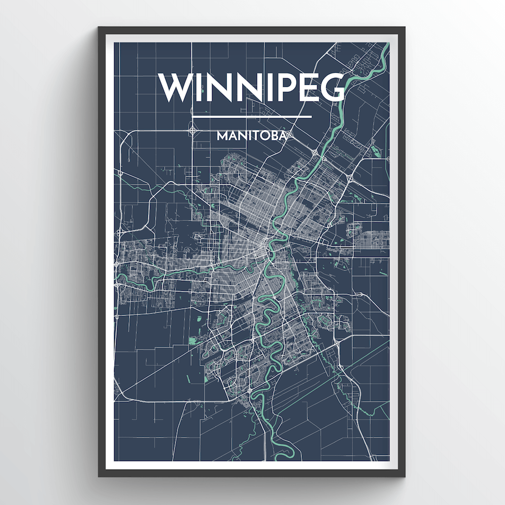 Winnipeg City Map Art Print - Point Two Design