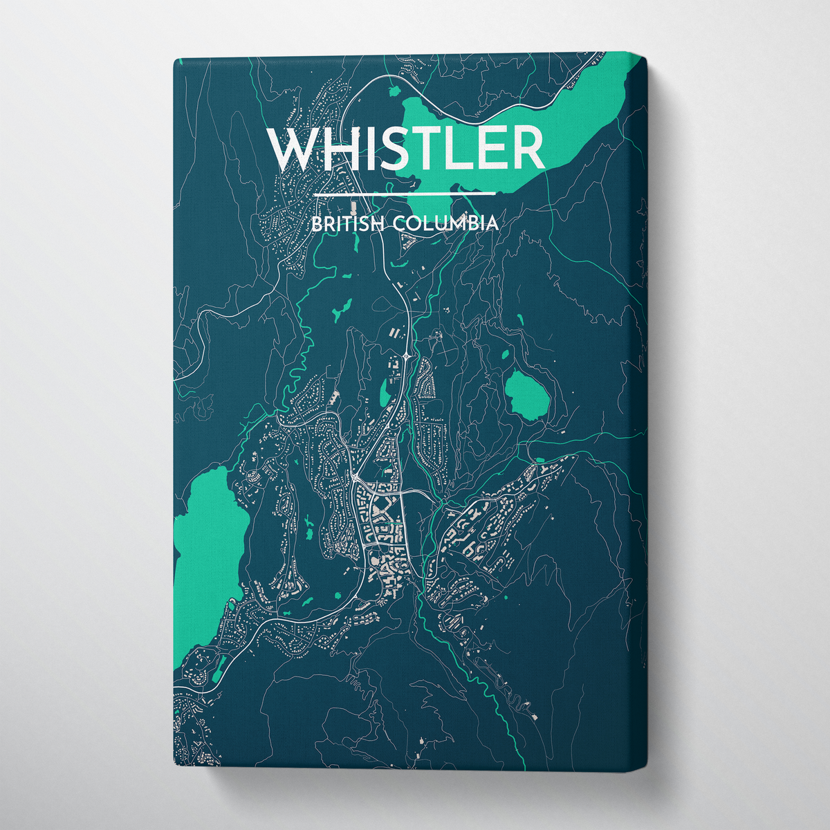 Whistler City Map Canvas Wrap - Point Two Design
