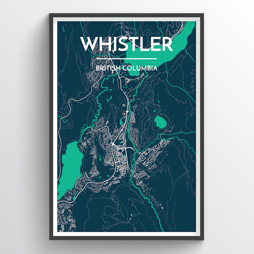 Whistler City Map Art Print - Point Two Design