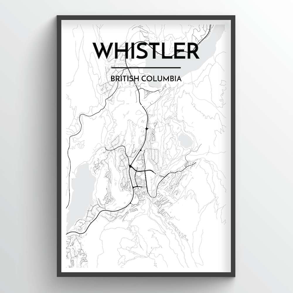 Whistler City Map - Point Two Design