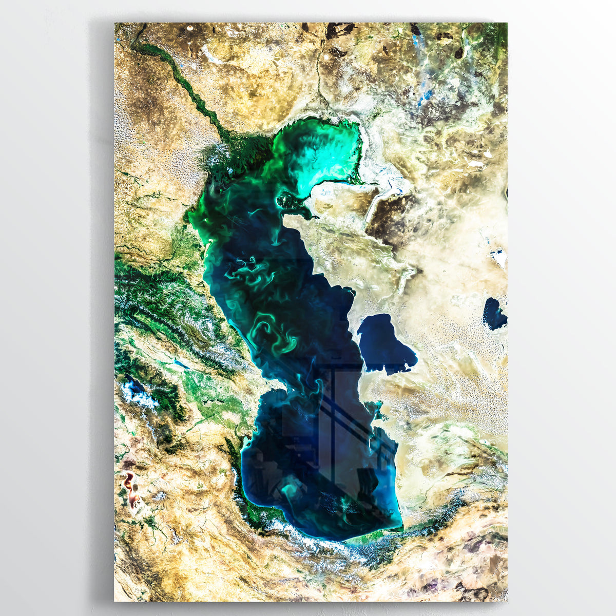 Caspian Sea Earth Photography - Floating Acrylic Art - Point Two Design