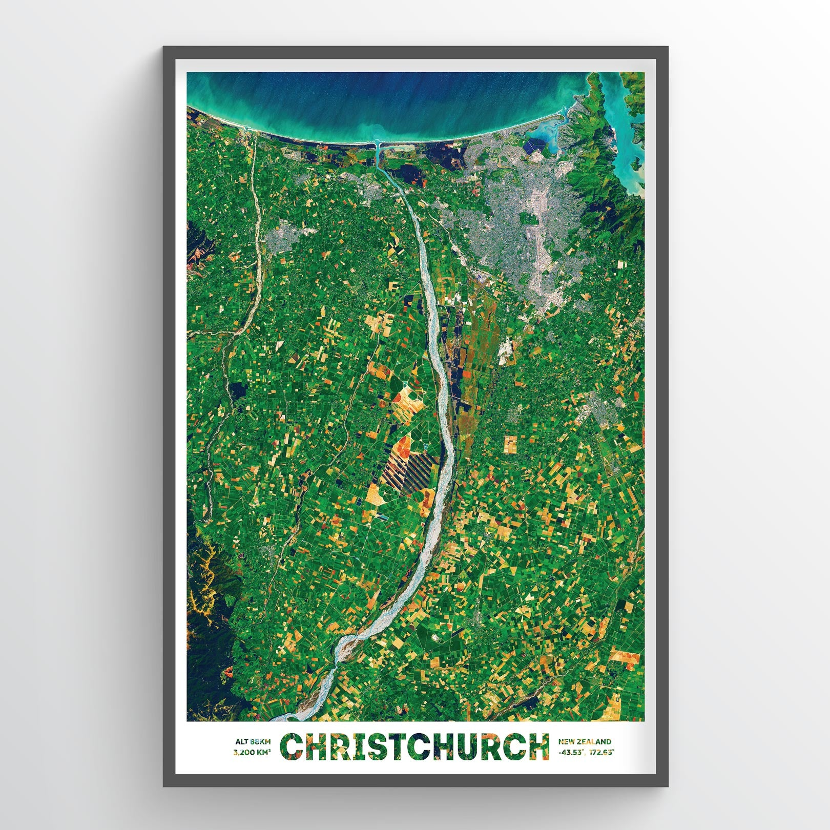 Christchurch Earth Photography - Art Print - Point Two Design