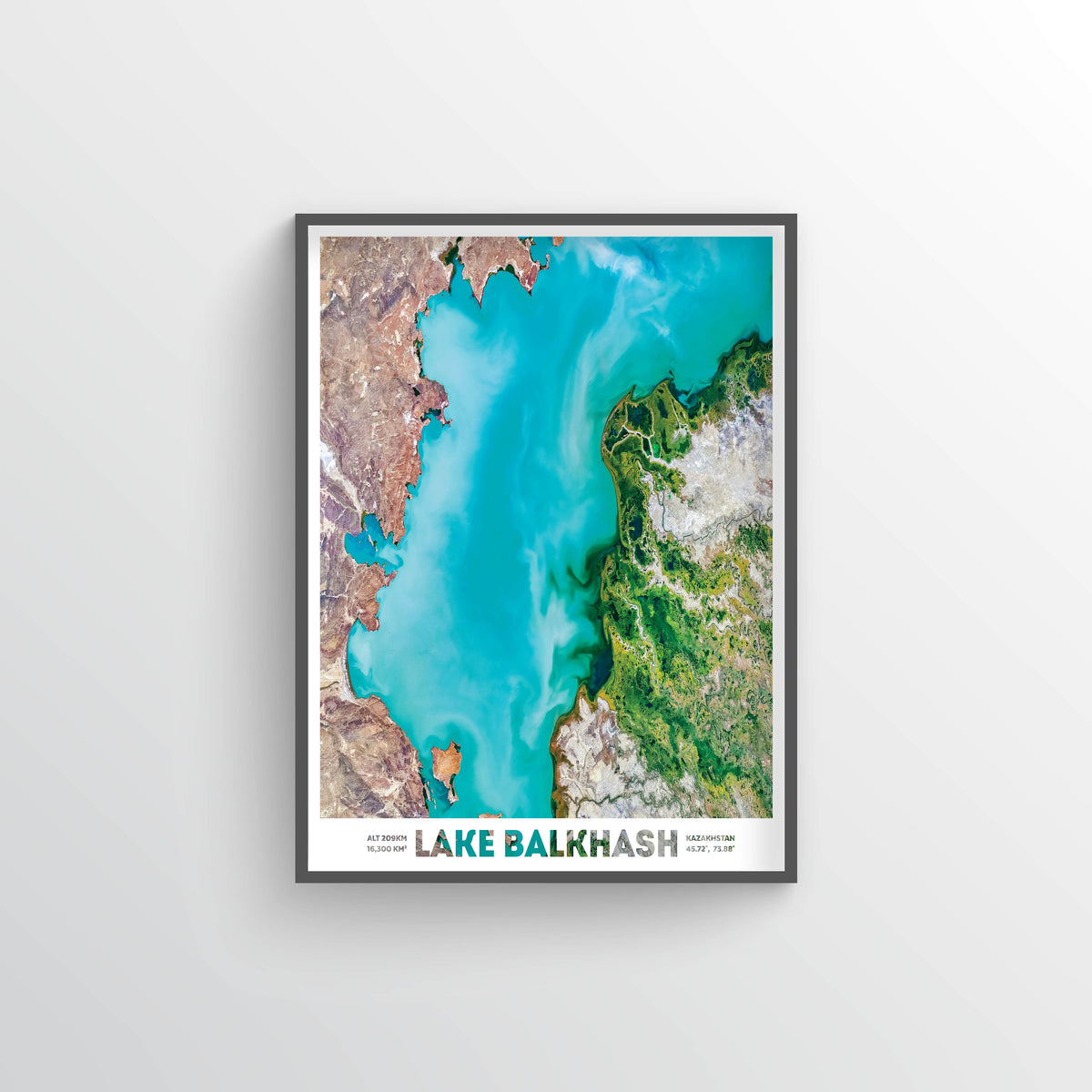 Lake Balkhash Earth Photography - Art Print