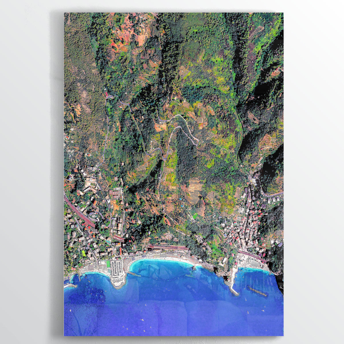 Cinque Terre Earth Photography - Floating Acrylic Art - Point Two Design