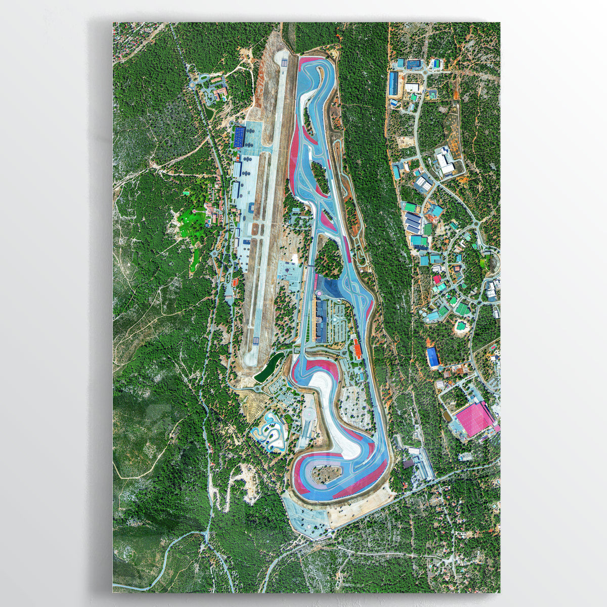 Circuit Paul Ricard Earth Photography - Floating Acrylic Art - Point Two Design
