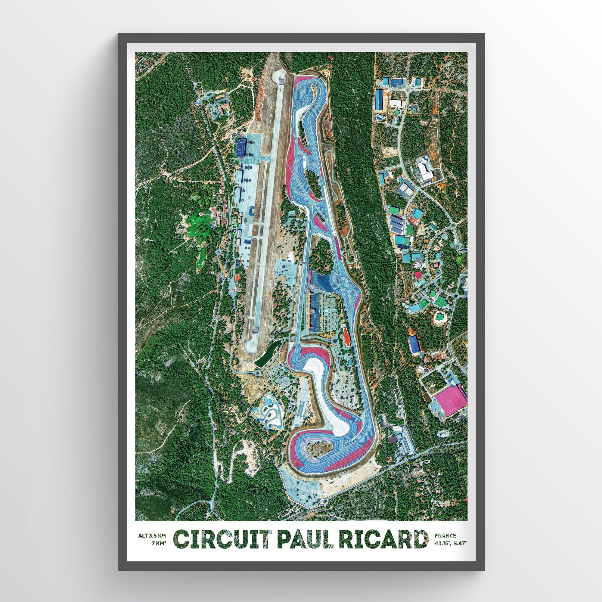 Circuit Paul Ricard Earth Photography - Art Print - Point Two Design