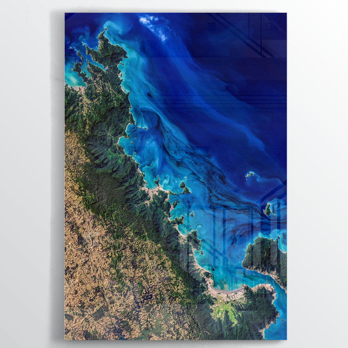 Coast of Sao Paulo Earth Photography - Floating Acrylic Art - Point Two Design