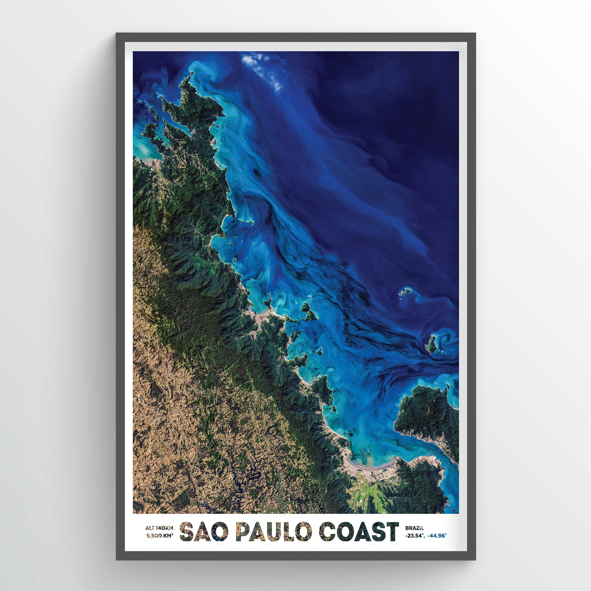 Coast of Sao Paulo Earth Photography - Art Print - Point Two Design