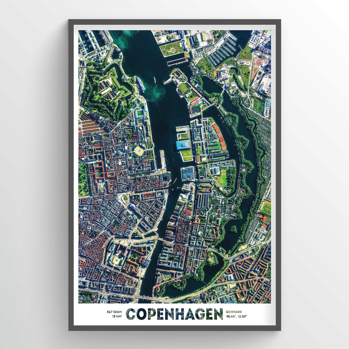 Copenhagen Earth Photography - Art Print - Point Two Design