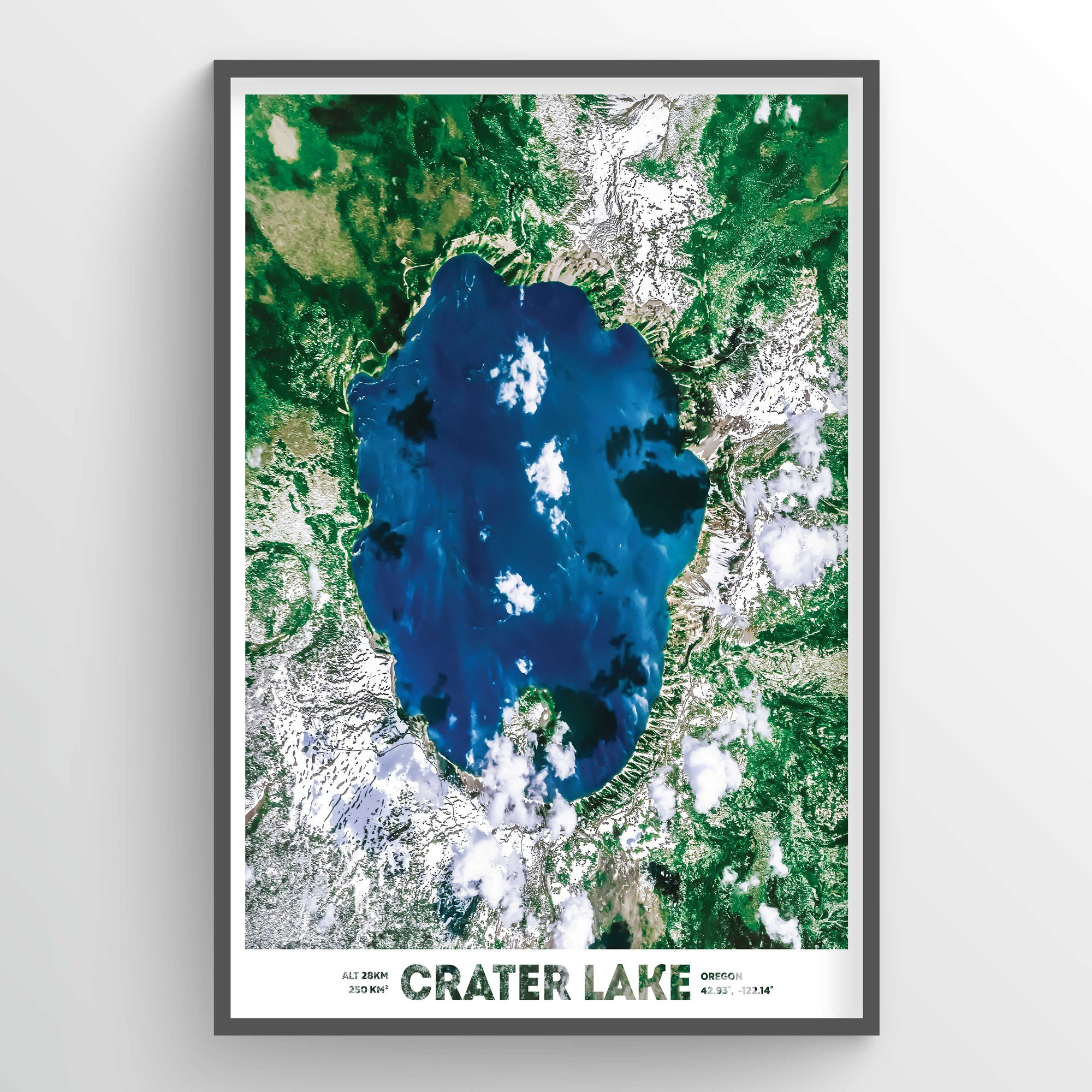 Crater Lake Earth Photography - Art Print - Point Two Design