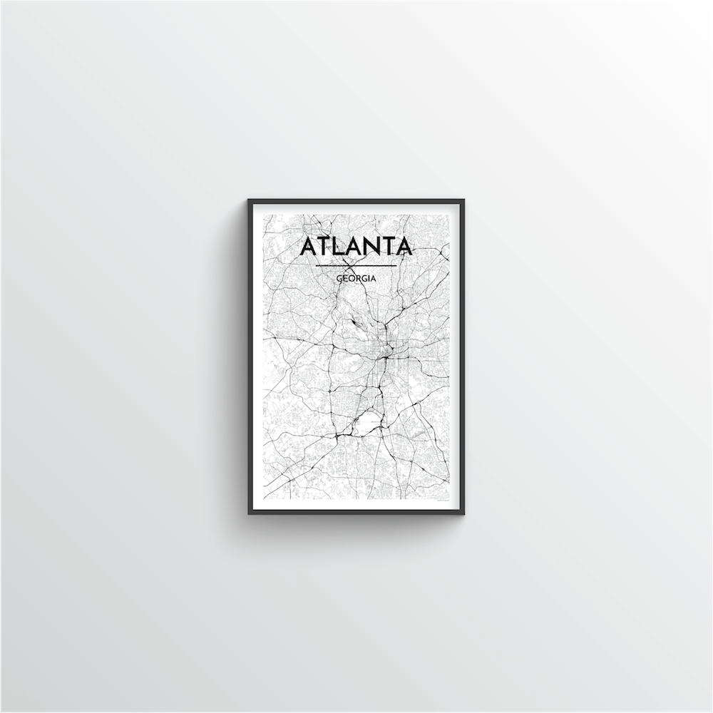 Atlanta Map Art Print - Point Two Design