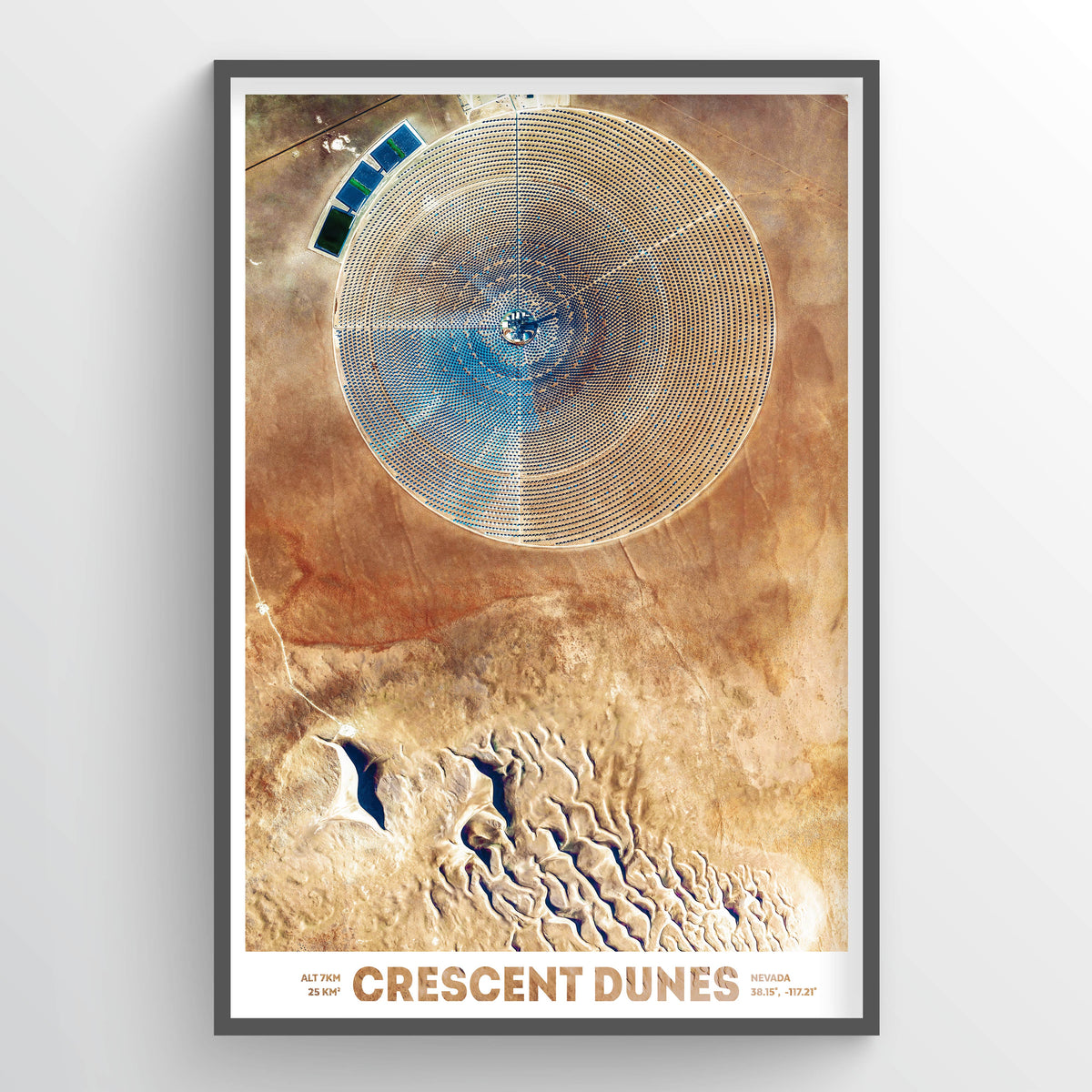 Crescent Dunes Earth Photography - Art Print - Point Two Design