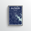Baltimore Map Art Print - Point Two Design