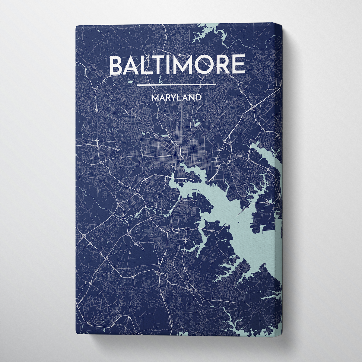Baltimore Map Canvas Wrap - Point Two Design