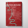 Baton Rouge Map Canvas Wrap - Point Two Design