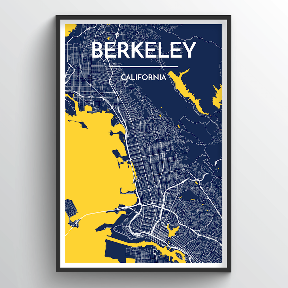 Berkeley Map Art Print - Point Two Design