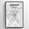 Boston Map Art Print - Point Two Design