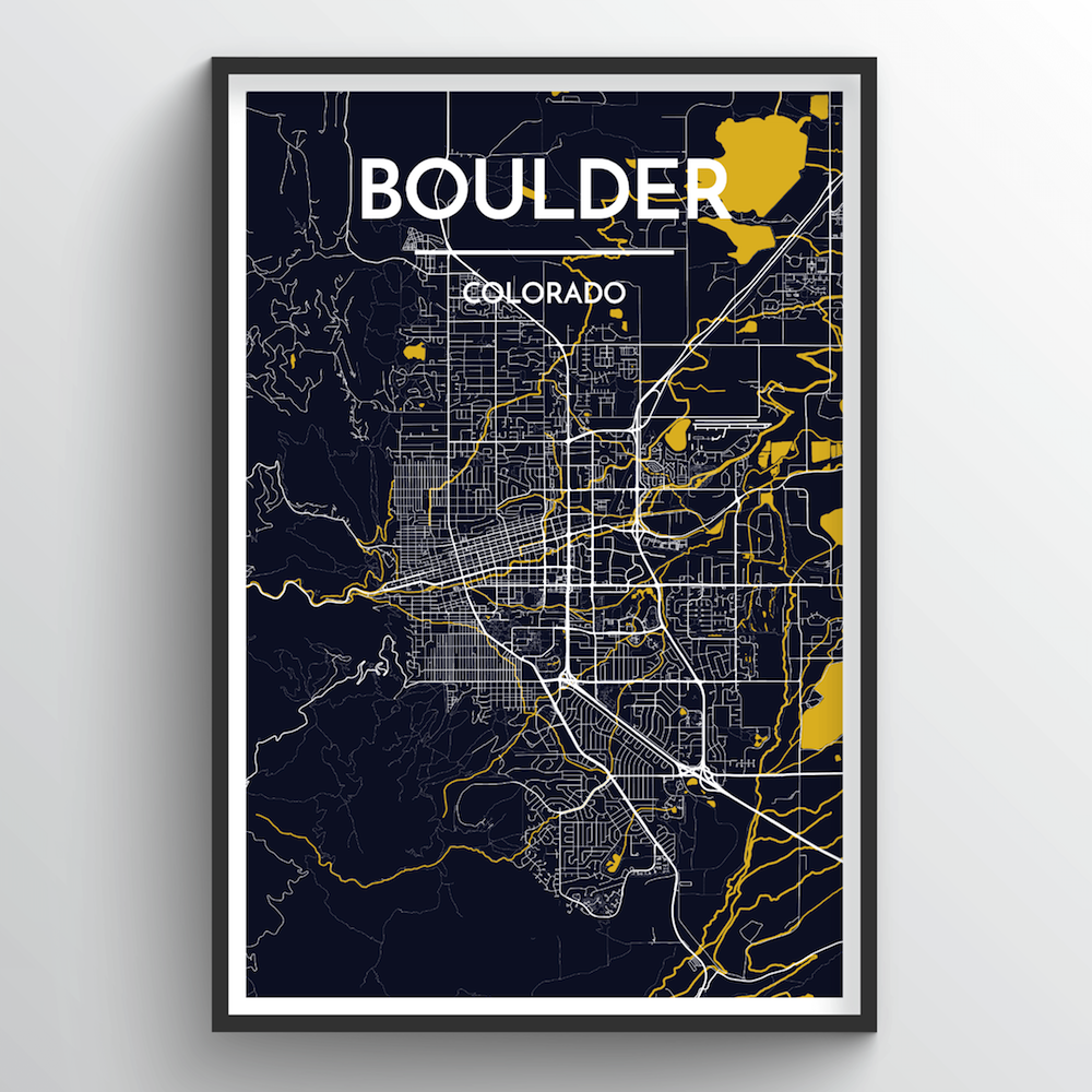 Boulder Map Art Print - Point Two Design