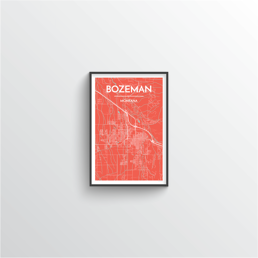 Bozeman Map Art Print - Point Two Design