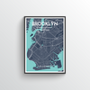 Brooklyn Map Art Print - Point Two Design