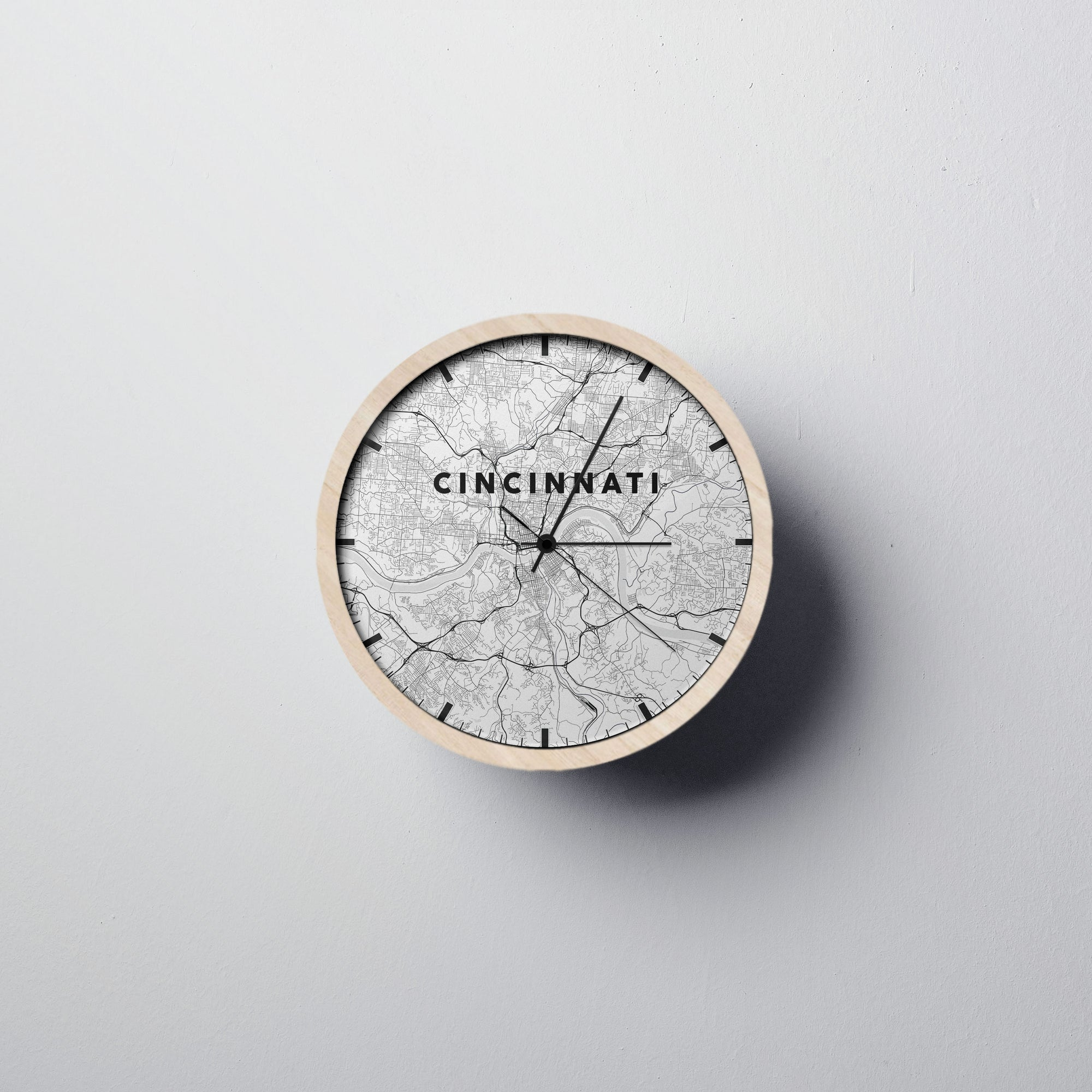 Cincinnati Wall Clock - Point Two Design