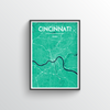 Cincinnati Map Art Print - Point Two Design