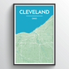 Cleveland Map Art Print - Point Two Design