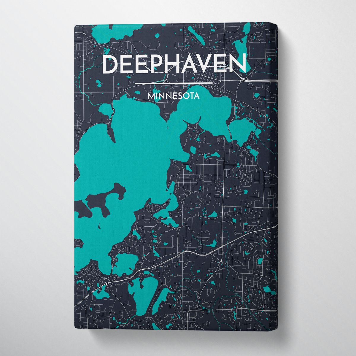 Deephaven Map Canvas Wrap - Point Two Design