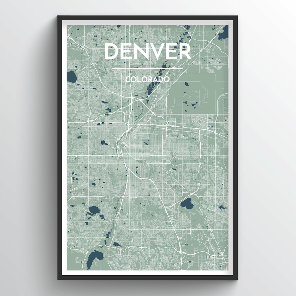 Denver Map Art Print - Point Two Design