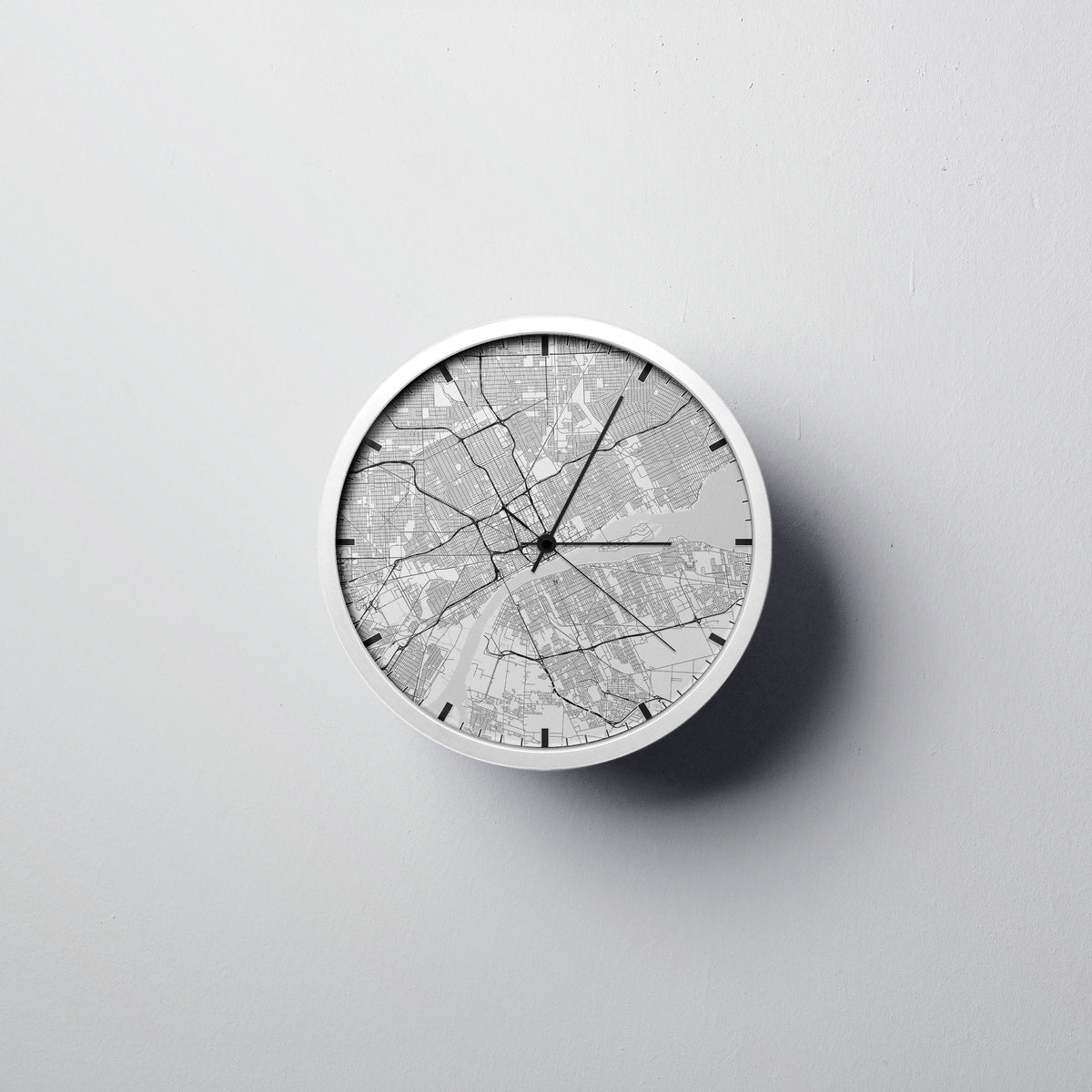 Detroit Wall Clock - Point Two Design
