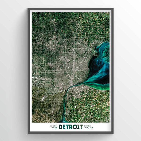 Detroit Earth Photography - Art Print - Point Two Design