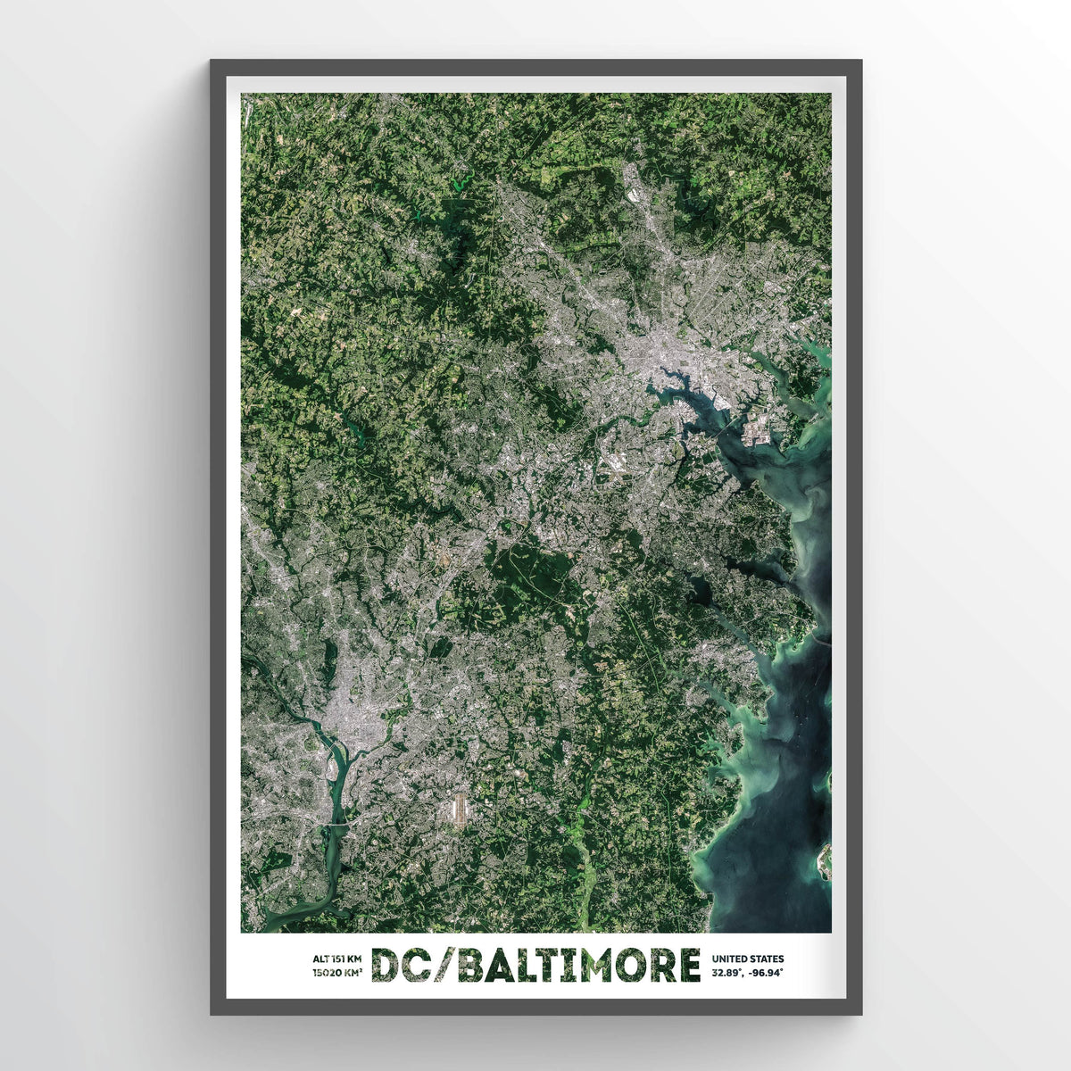 DC/Baltimore Earth Photography - Art Print - Point Two Design
