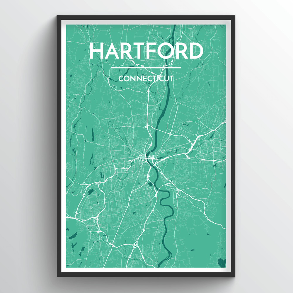 Hartford Map Art Print - Point Two Design