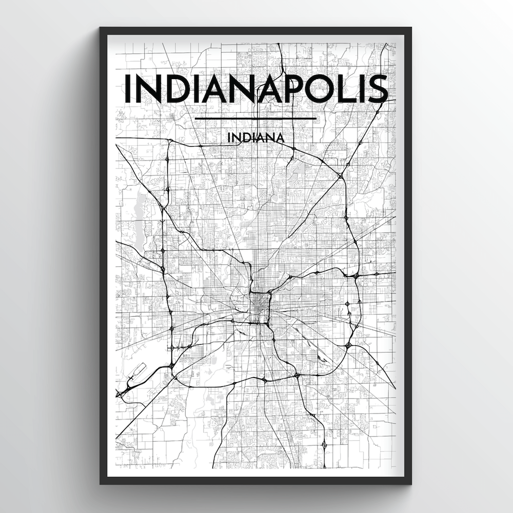 Indianapolis Map Art Print - Point Two Design