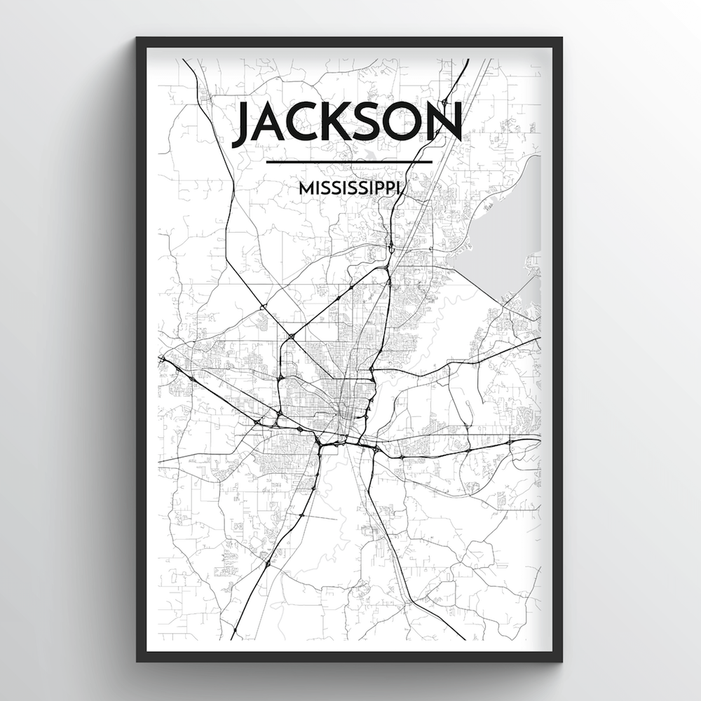 Jackson Map Art Print - Point Two Design