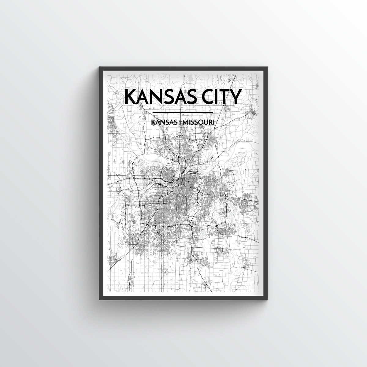 Kansas City Map Art Print - Point Two Design