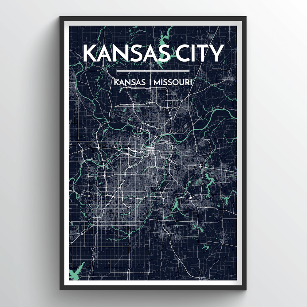 Kansas Map Art Print - Point Two Design