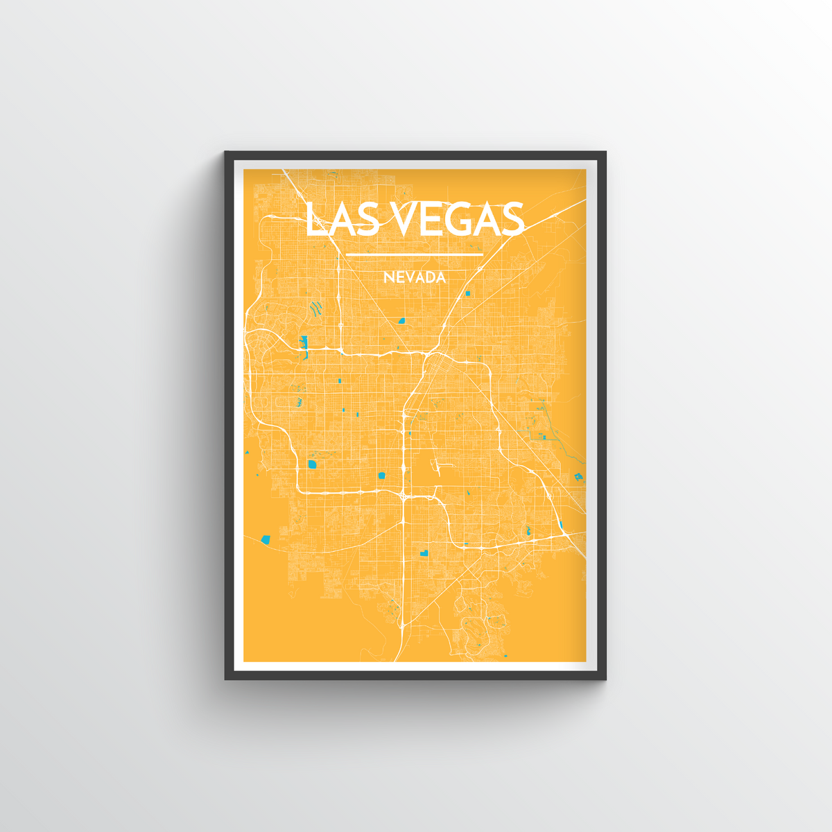 Las Vegas Map Art Print - Point Two Design