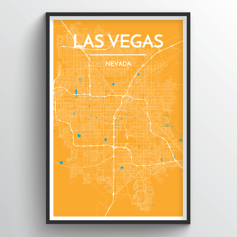 Las Vegas City Map Art Print - Point Two Design