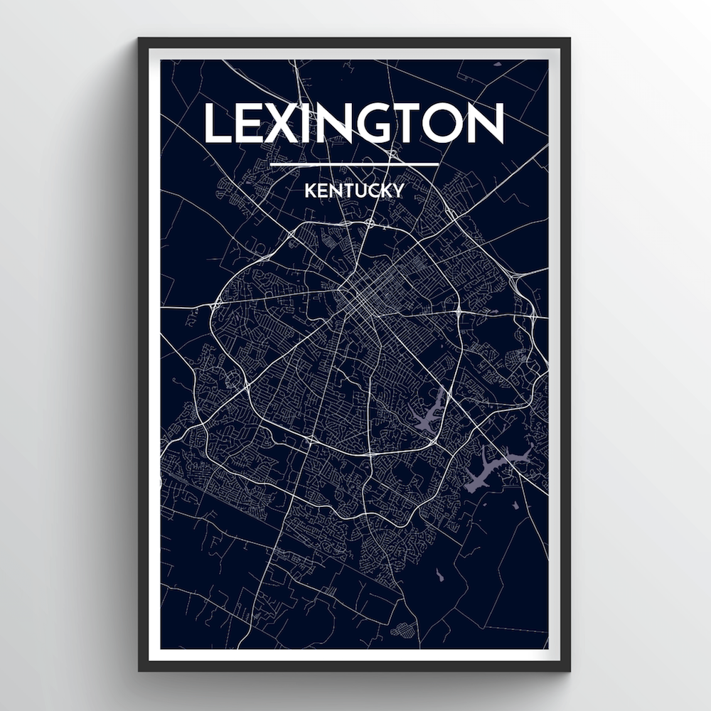 Lexington City Map Art Print - Point Two Design