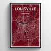 Louisville City Map Art Print - Point Two Design