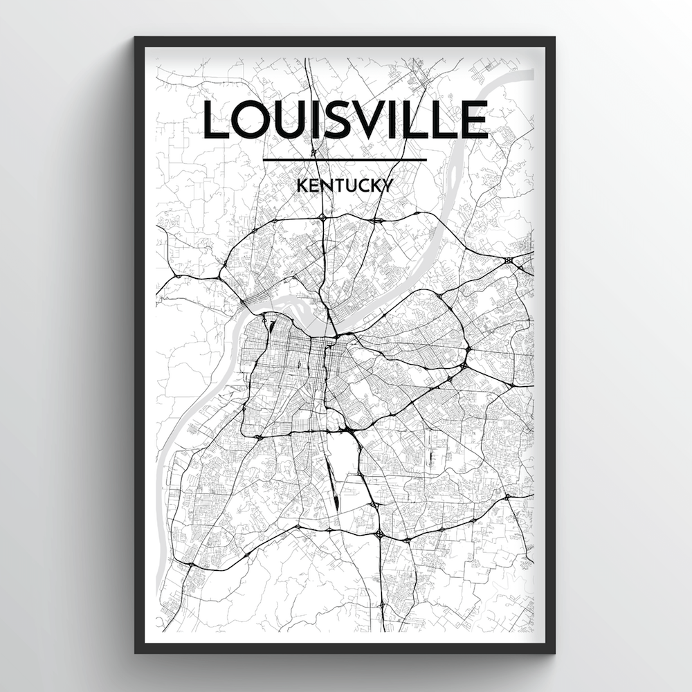 Louisville Map Art Print - Point Two Design
