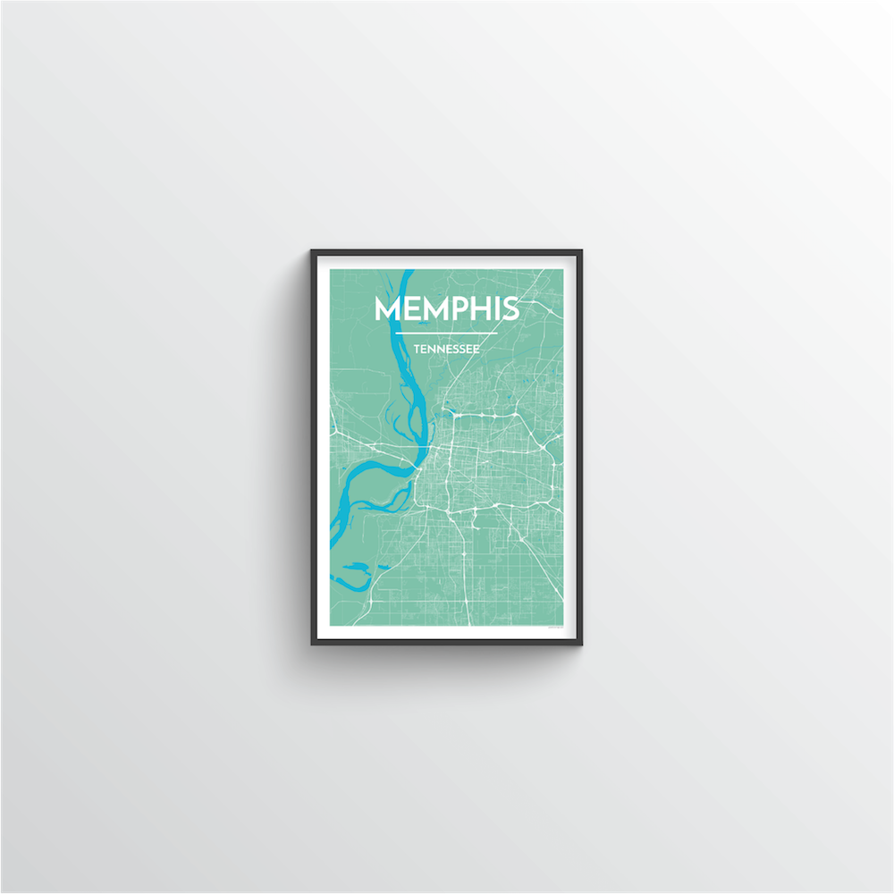 Memphis Map Art Print - Point Two Design