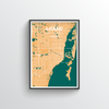 Miami City Map Art Print - Point Two Design