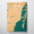 Miami Map Art Print Map Canvas Wrap - Point Two Design