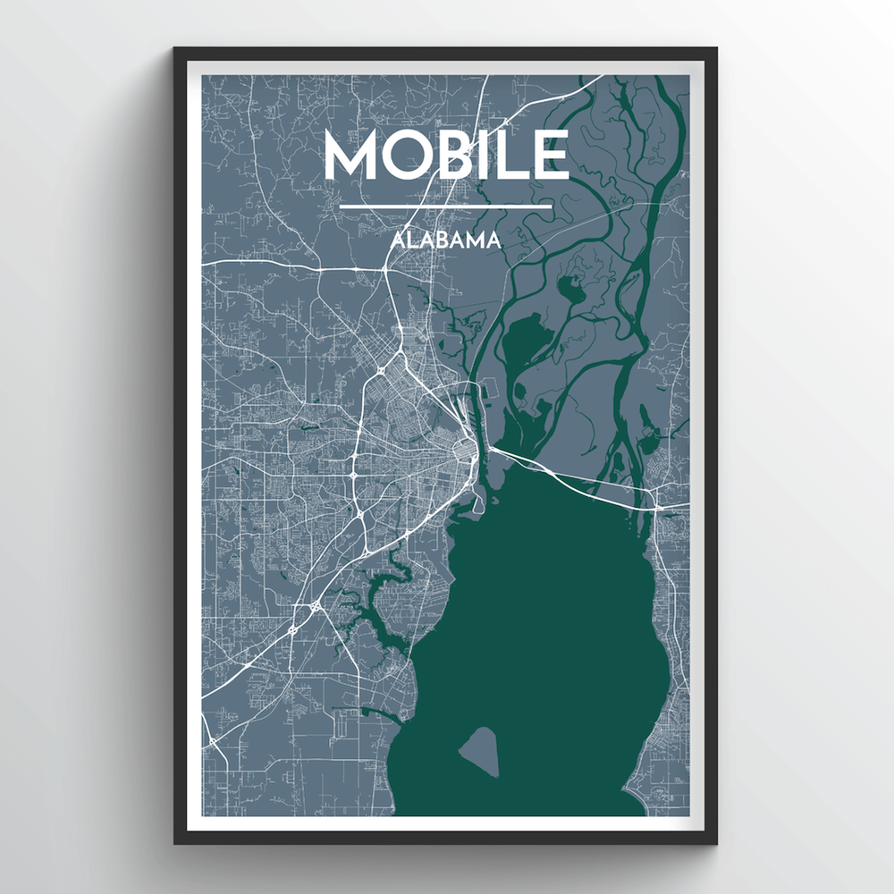 Mobile City Map Art Print - Point Two Design