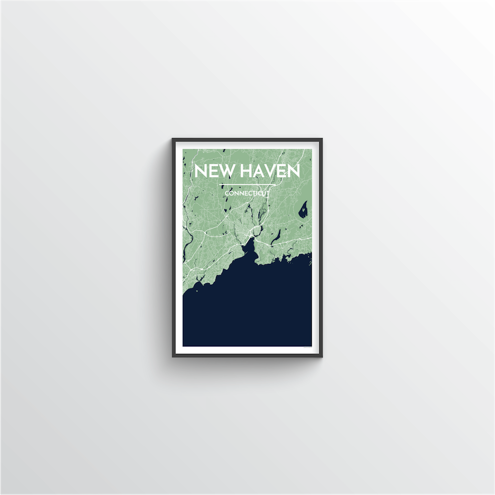 New Haven Map Art Print - Point Two Design